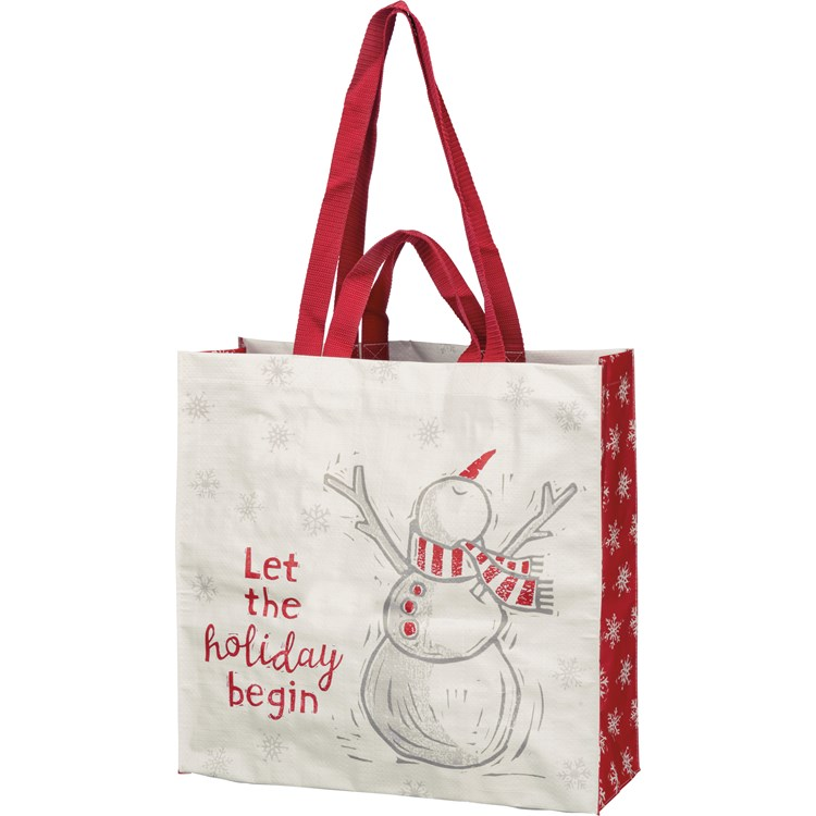 "Market Tote - Let The Holiday Begin - 15.50"" x 15.25"" x 6"" - Post-Consumer Material, Nylon"