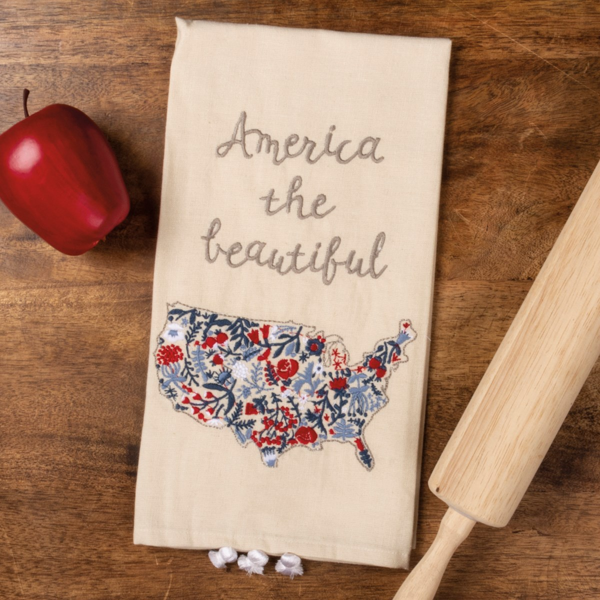 "Dish Towel - America The Beautiful - 20"" x 26"" - Cotton, Linen"