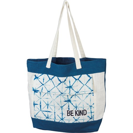 "Tote - Be Kind - 14"" x 15.50"" x 4"" - Cotton, Metal"