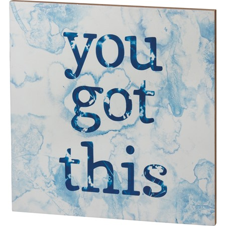 "Wall Decor - You Got This - 15"" x 15"" x 0.50"" - Wood, Paper"