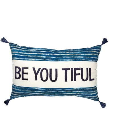 "Pillow - Beyoutiful - 22"" x 14"" - Velvet, Cotton"
