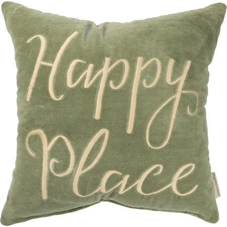 "Pillow - Happy Place - 16"" x 16"" - Velvet"