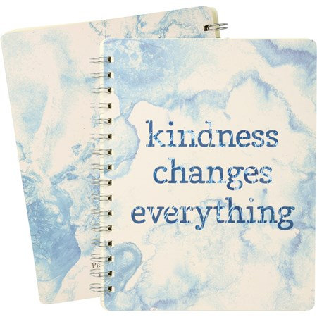 "Spiral Notebook - Kindness Changes Everything - 7"" x 9"" x 0.50"" - Paper, Metal"