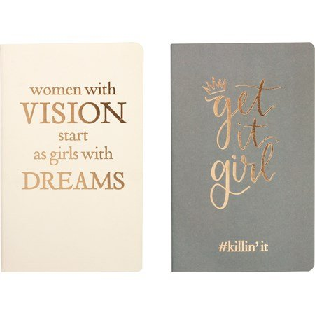 "Lg Notebook Set - Women With Vision - 5"" x 8.25"" x 1"" - Paper"