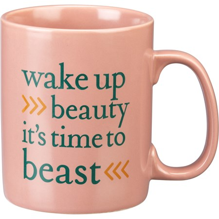 Mug - Wake Up Beauty It's Time To Beast - 20 oz. - Stoneware
