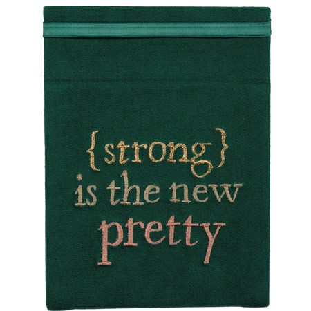 "Folding Mirror - Strong Is The New Pretty - 6.25"" x 8"" - Cotton, Mirror"