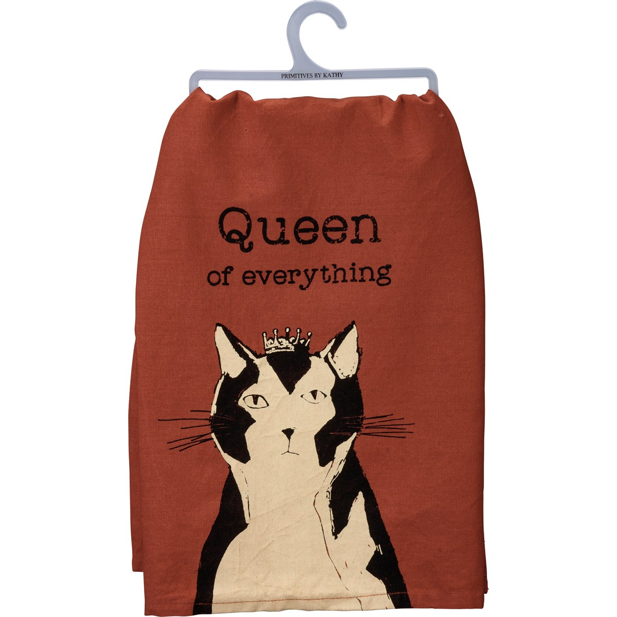 "Dish Towel - Queen Of  Everything - 28"" x 28"" - Cotton"
