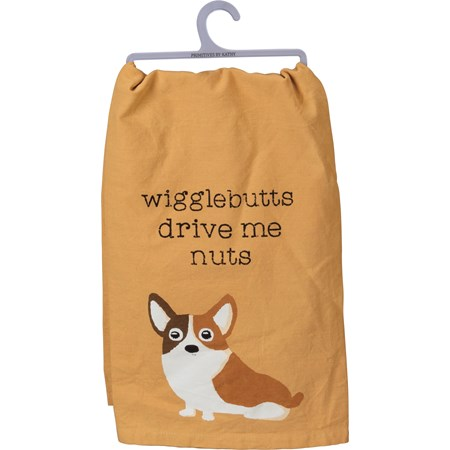 "Dish Towel - Wigglebutts Drive Me Nuts - 28"" x 28"" - Cotton"