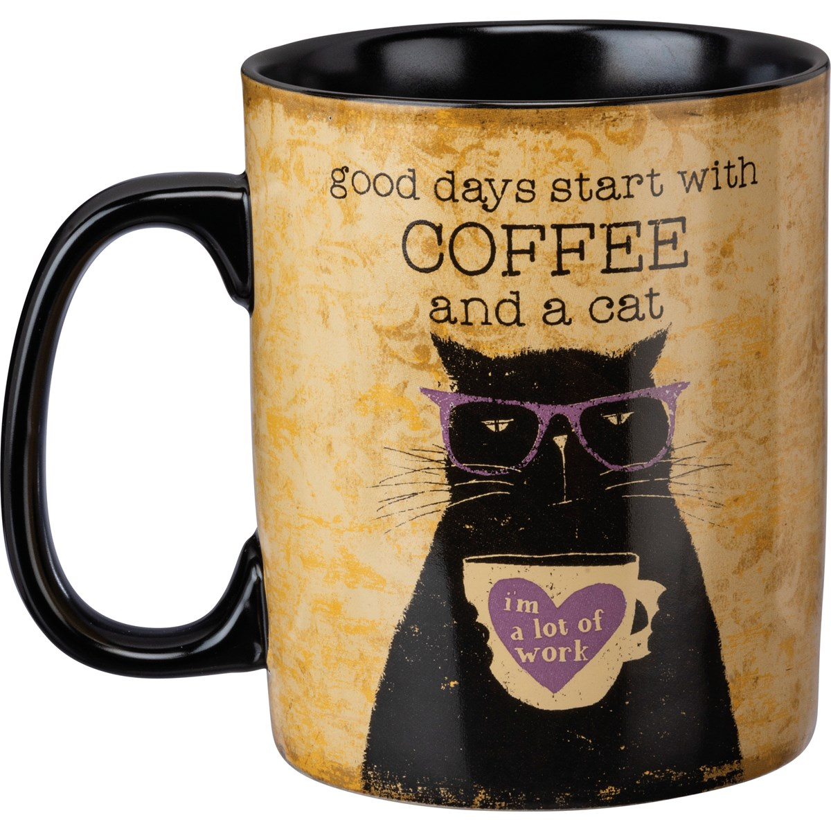 Mug - Good Days Start With Coffee And A Cat - 20 oz. - Stoneware