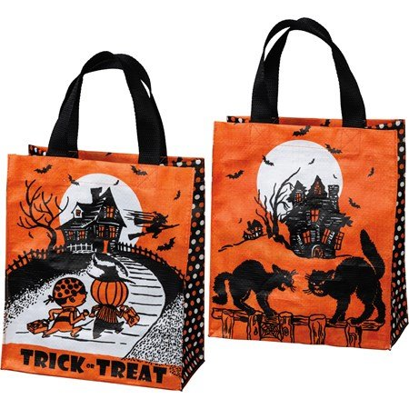 "Daily Tote - Trick Or Treat - 8.75"" x 10.25"" x 4.75"" - Post-Consumer Material, Nylon"