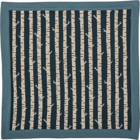 "Security Blanket - Birch Trees - 16"" x 16"" - Cotton"
