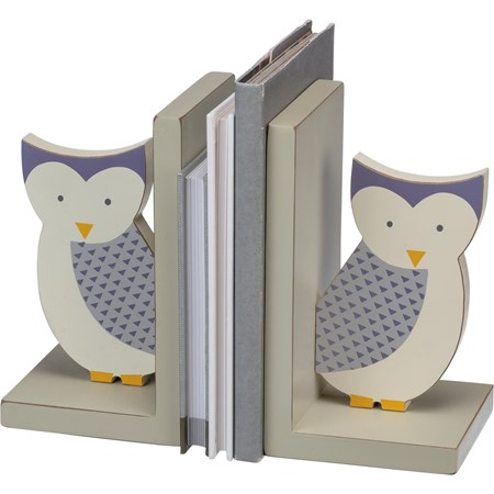 "Bookends - Owl - 4"" x 7"" x 4"" - Wood"