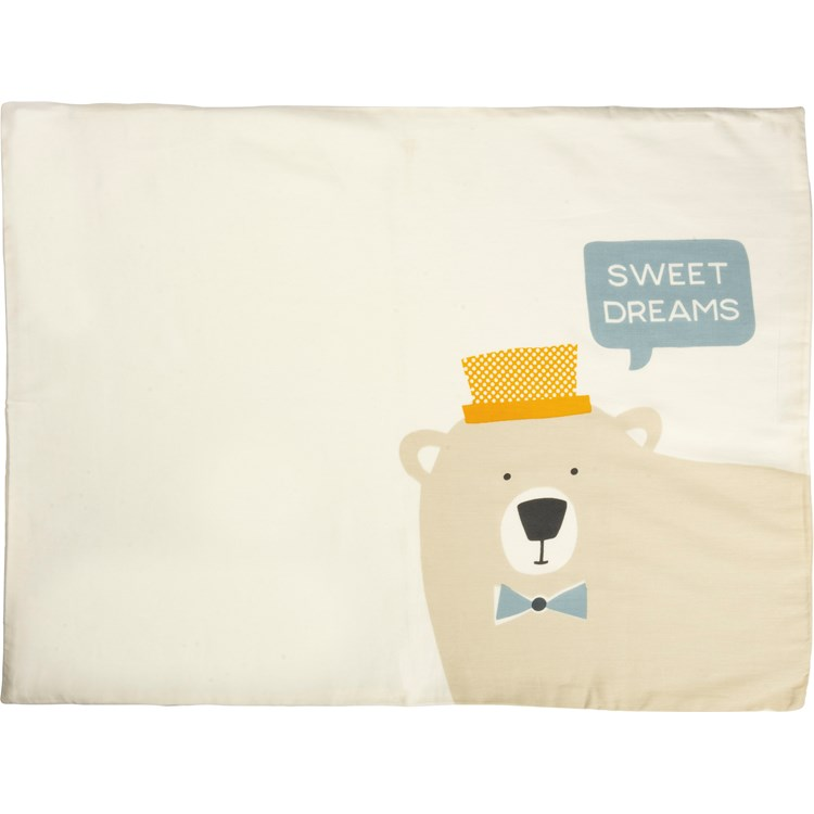 "Pillowcase Set - Bear - Sweet Dreams - 28"" x 21"" - Cotton"