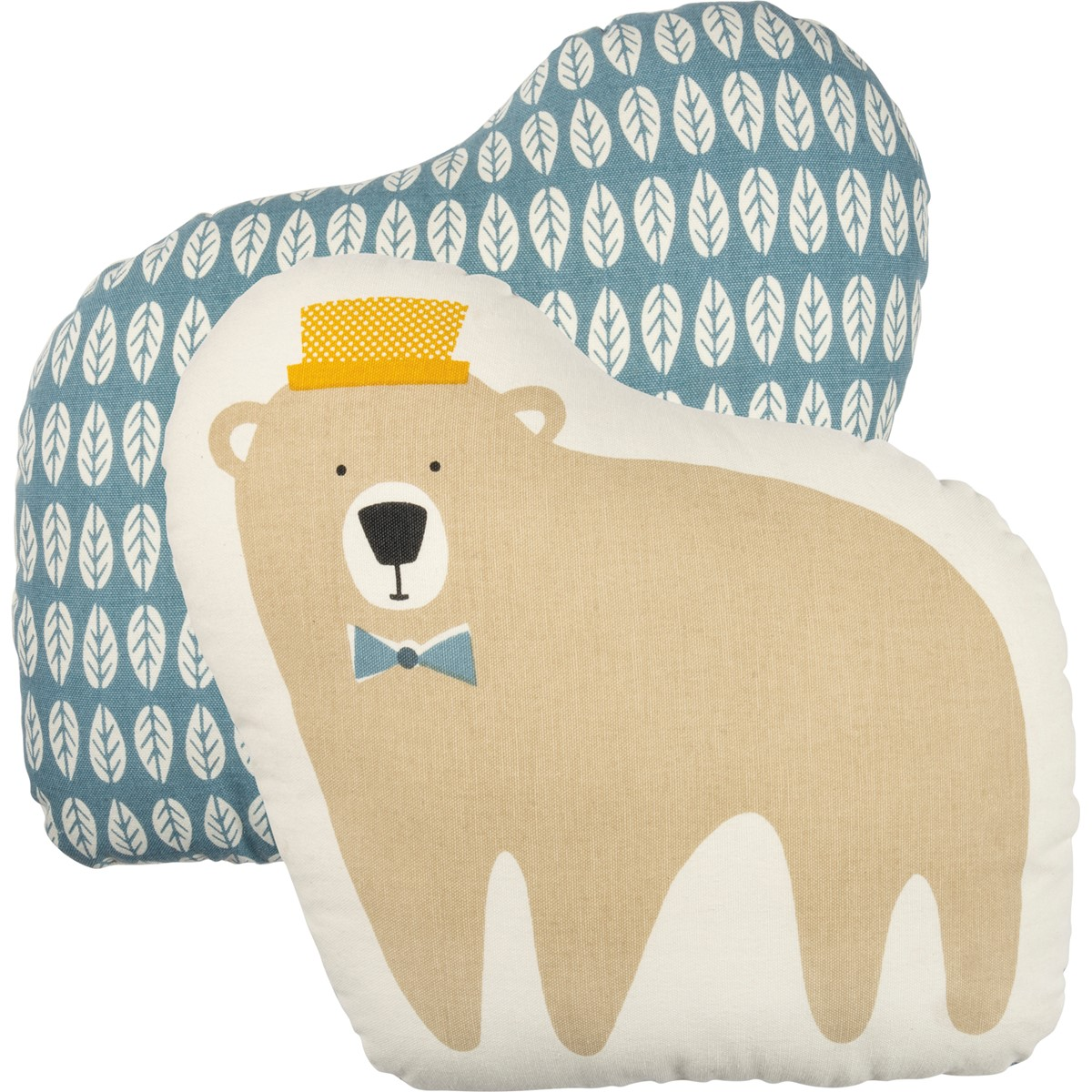 "Shaped Pillow - Bear - 14.50"" x 13.50"" - Cotton"