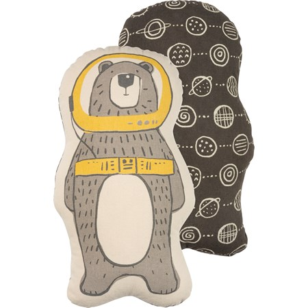 "Shaped Pillow - Astro Bear - 8.50"" x 14.50"" - Cotton"