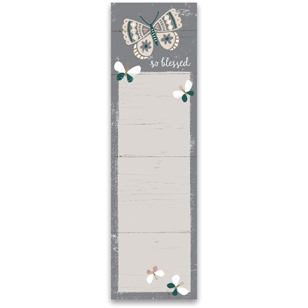 "List Notepad - So Blessed - 2.75"" x 9.50"" x 0.25"" - Paper, Magnet"
