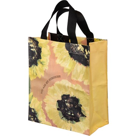 "Daily Tote - You Are My Sunshine - 8.75"" x 10.25"" x 4.75"" - Post-Consumer Material, Nylon"