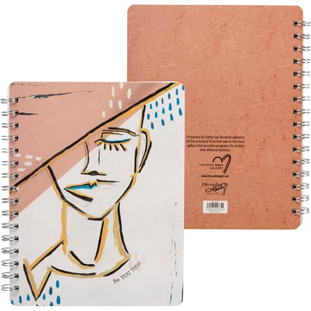 "Spiral Notebook - Be YOU tiful - 7"" x 9"" x 0.50"" - Paper, Metal"