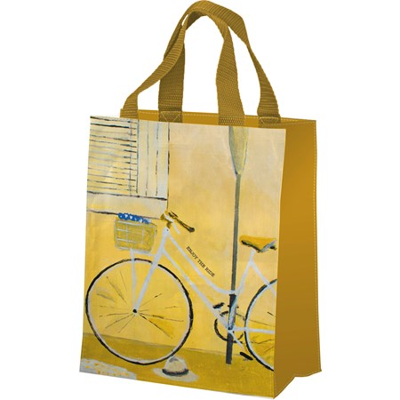 "Daily Tote - Enjoy The Ride - 8.75"" x 10.25"" x 4.75"" - Post-Consumer Material, Nylon"