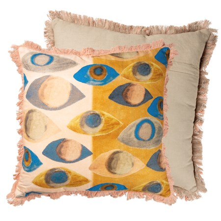 "Pillow - Colorful Eyes - 16"" x 16"" - Cotton"