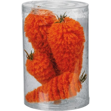"Bottle Brush Carrots - 2"" Diameter x 6"", 1.50"" Diameter x 4"" - Bristle, Wire, Plastic"