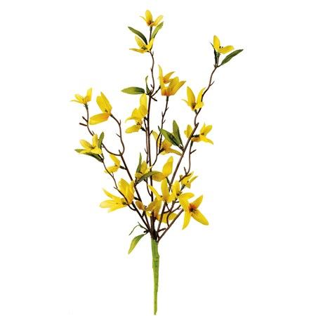 "Pick - Forsythia - 15"" Tall - Plastic, Fabric, Wire"