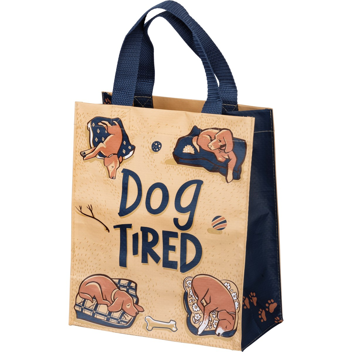 "Daily Tote - Dog Tired - 8.75"" x 10.25"" x 4.75""  - Post-Consumer Material, Nylon"