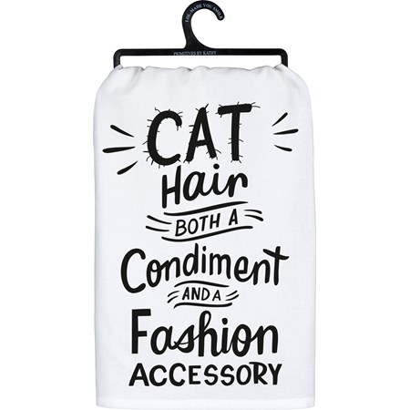 "Dish Towel - Cat Hair Both Condiment And Fashion - 28"" x 28"" - Cotton"