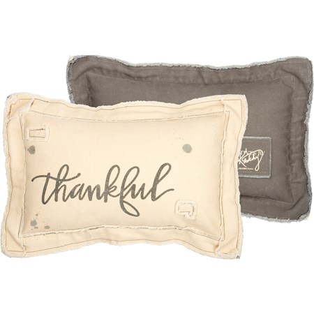 "Pillow - Thankful  - 15"" x 10"" - Canvas"
