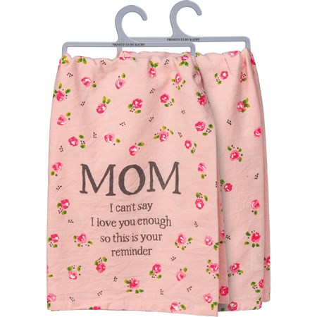 "Dish Towel - Mom - 28"" x 28"" - Cotton"