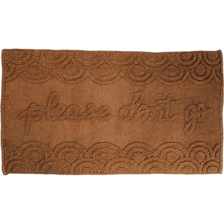 "Rug - Please Don't Go - 32"" x 20"" - Cotton"