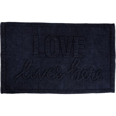 "Rug - Love Lives Here - 32"" x 20"" - Cotton"