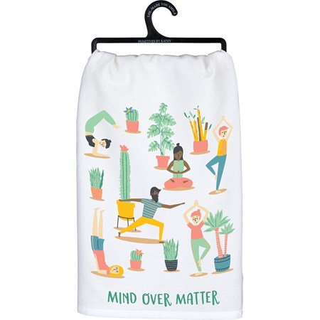 "Dish Towel - Mind Over Matter - 28"" x 28"" - Cotton"