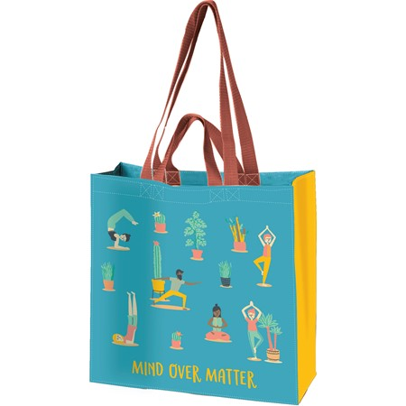 "Market Tote - Mind Over Matter - 15.50"" x 15.25"" x 6"" - Post-Consumer Material, Nylon"