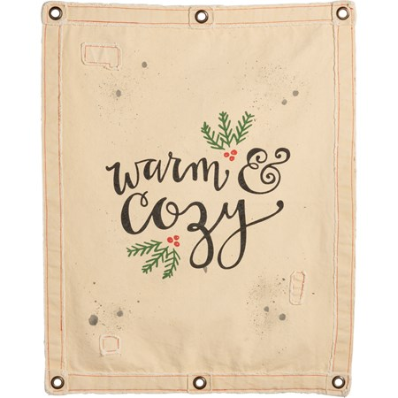 "Wall Banner - Warm & Cozy - 24"" x 30"" - Canvas, Metal"