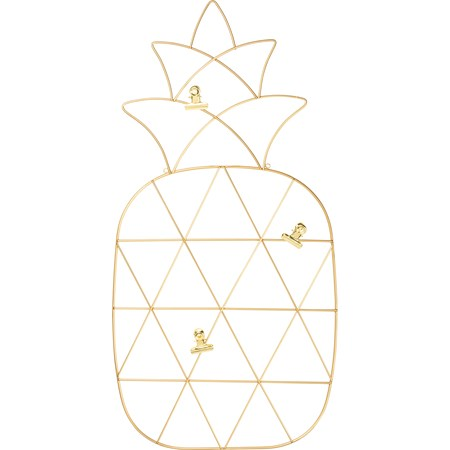 "Wire Photo Holder - Pineapple - 11.75"" x 23"" - Metal"
