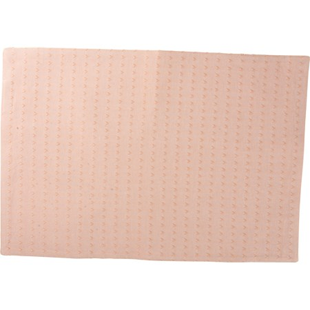 "Placemat - Woven Peach - 19"" x 13"" - Cotton"