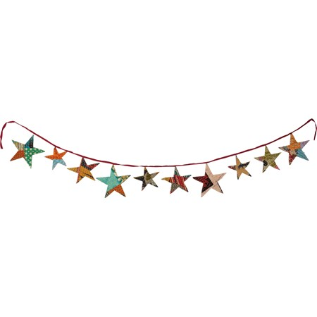 "Garland - Star - 72"" x 7"" - Cotton"