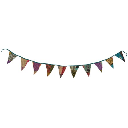 "Pennant Garland - Bohemian - 72"" x 7"" - Cotton"