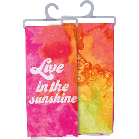"Dish Towel - In The Sunshine - 18"" x 28"" - Cotton"