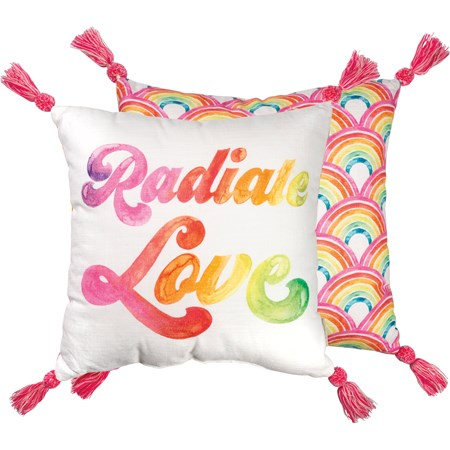 "Pillow - Radiate Love - 18"" x 18"" - Cotton"