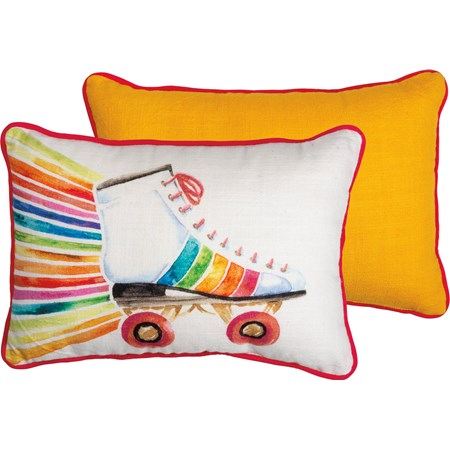"Pillow - Rollerskate - 15"" x 10"" - Cotton"