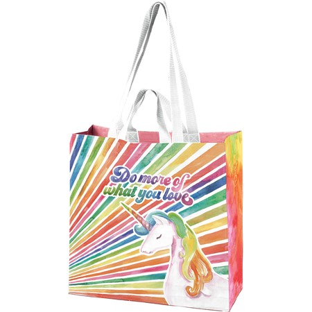 "Market Tote - Do More Of What You Love - 15.50"" x 15.25"" x 6"" - Post-Consumer Material, Nylon"