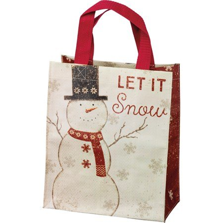 "Daily Tote - Let It Snow - 8.75"" x 10.25"" x 4.75"" - Post-Consumer Material, Nylon"