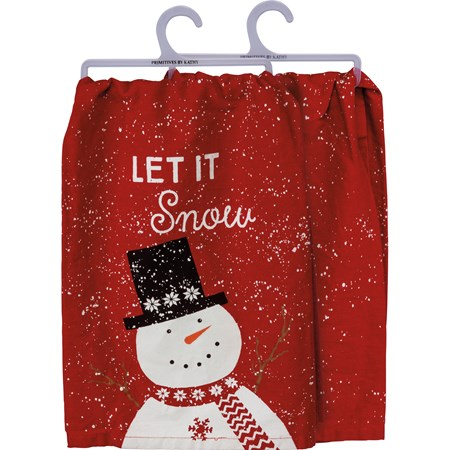 "Dish Towel - Let It Snow - 28"" x 28"" - Cotton"