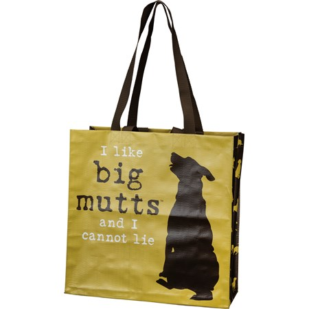 "Market Tote - I Like Big Mutts - 15.50"" x 15.25"" x 6"" - Post-Consumer Material, Nylon"