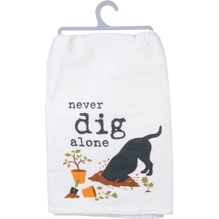 "Dish Towel - Never Dig - 28"" x 28"" - Cotton"