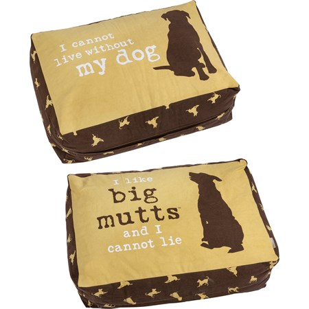 "Lg Dog Bed - Big Mutts - 30"" x 20"" x 10"" - Canvas"