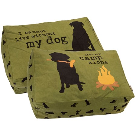 "Lg Dog Bed - Camp - 30"" x 20"" x 10"" - Canvas"