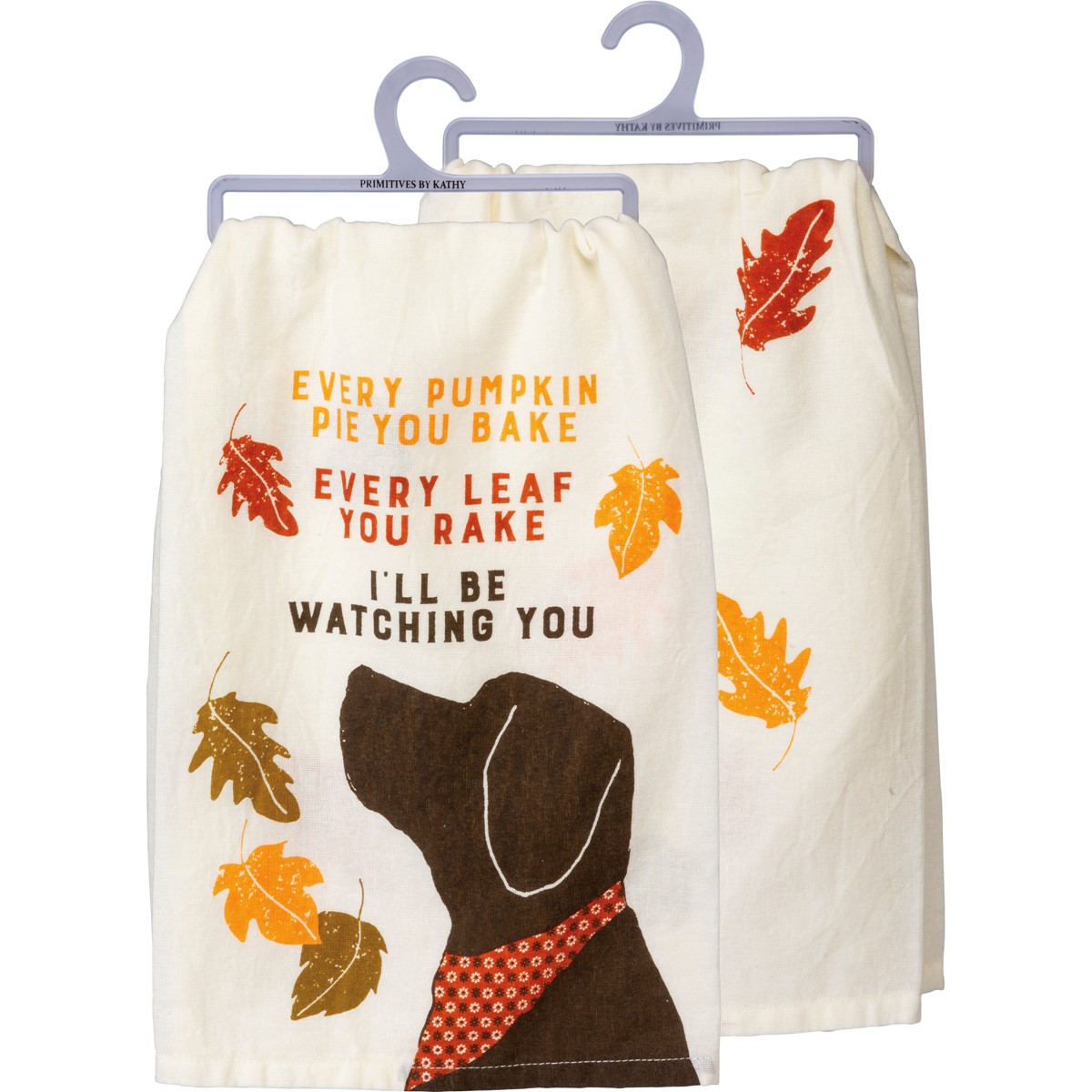 "Dish Towel - Watching You Dog - 28"" x 28"" - Cotton"
